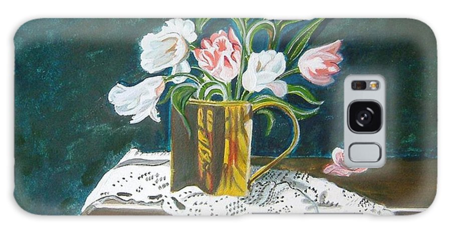 Tulips Galaxy S8 Case featuring the painting Tulips by Manjiri Kanvinde