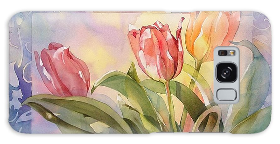 Tulips Galaxy S8 Case featuring the painting Tulips by Marlene Gremillion