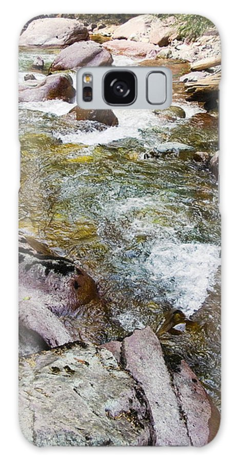 Rapids Galaxy S8 Case featuring the photograph Tumbling Stream by Sally Weigand