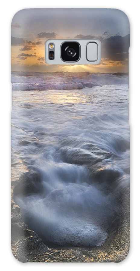 Blowing Galaxy S8 Case featuring the photograph Tumbling Surf by Debra and Dave Vanderlaan