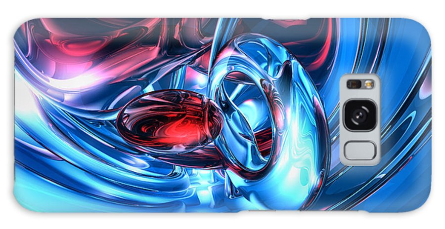 3d Galaxy S8 Case featuring the digital art Tunnel Lust Abstract by Alexander Butler
