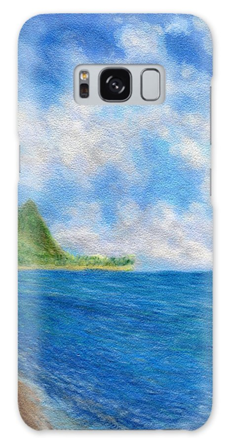 Rainbow Colors Pastel Galaxy S8 Case featuring the painting Tunnels Beach Sky by Kenneth Grzesik