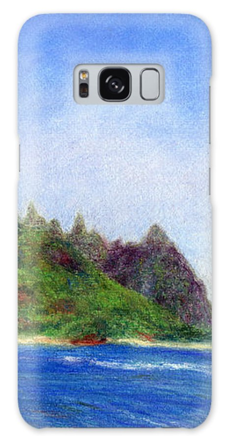 Rainbow Colors Pastel Galaxy Case featuring the painting Tunnels Beach View by Kenneth Grzesik