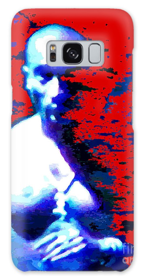 Portraits Galaxy Case featuring the digital art Tupac Unleashed by Walter Oliver Neal