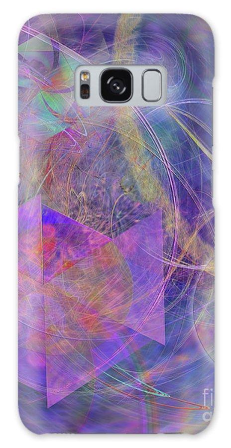 Turbo Blue Galaxy S8 Case featuring the digital art Turbo Blue by John Beck