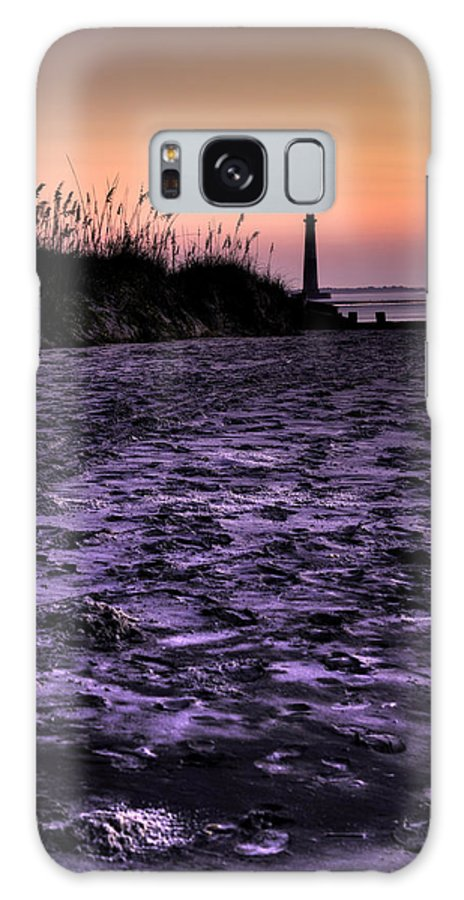 Morris Island Light House Morning Folly Beach Lowcountry South Carolina Landscape Water Beach Hdr Galaxy S8 Case featuring the photograph Turbulant Sands by Dustin K Ryan