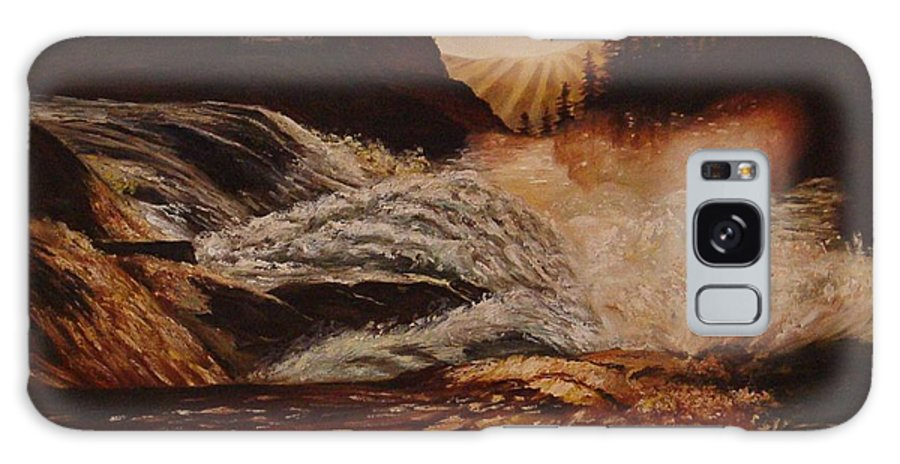 Water Galaxy S8 Case featuring the painting Turbulent Waters by Quwatha Valentine