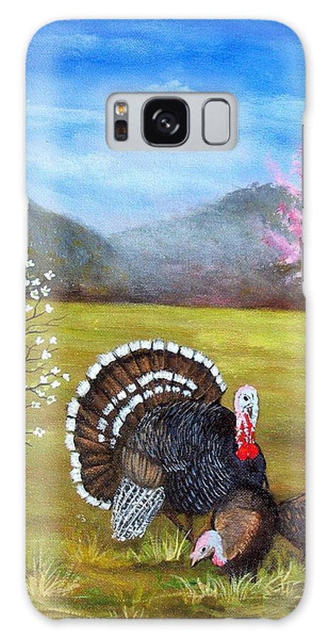 Turkey Galaxy Case featuring the painting Turkey Spring by Tami Booher
