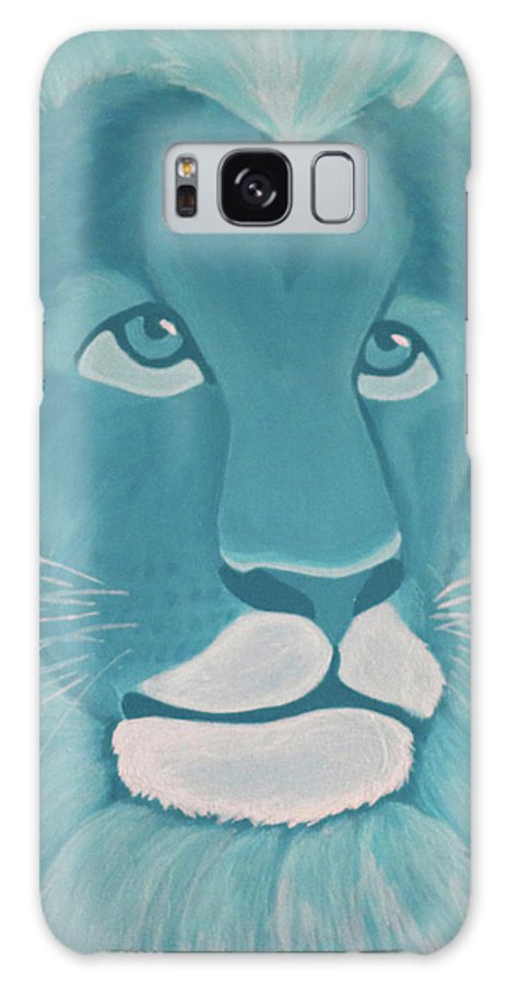 Turquoise Lion Galaxy S8 Case for Sale