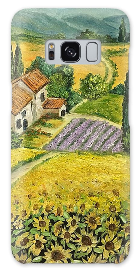 Landscape Galaxy S8 Case featuring the painting Tuscan Italy by Aysel Mekhtieva