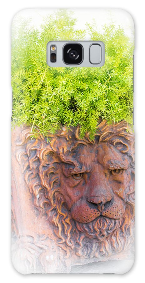 Lion Galaxy S8 Case featuring the photograph Tuscan Lion by Saundra Salter