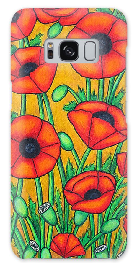 Colourful Galaxy Case featuring the painting Tuscan Poppies by Lisa Lorenz