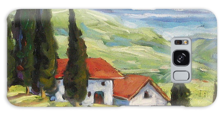 Tuscan Galaxy S8 Case featuring the painting Tuscan Villas by Richard T Pranke