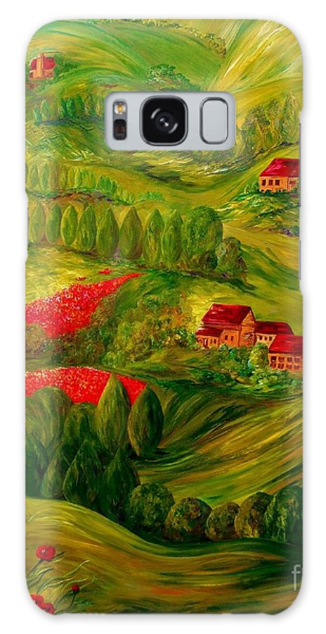 Tuscany Galaxy S8 Case featuring the painting Tuscany At Dawn by Eloise Schneider Mote