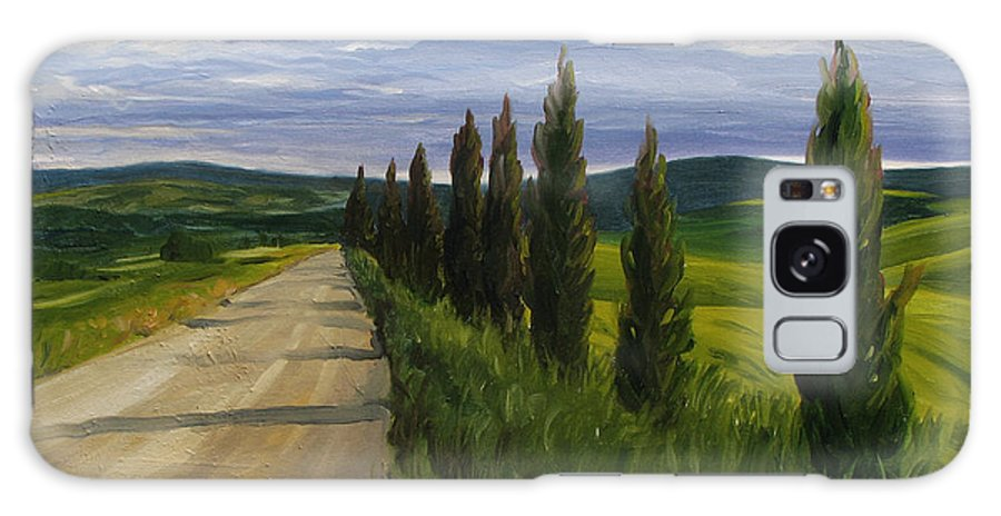 Galaxy S8 Case featuring the painting Tuscany Road by Jay Johnson