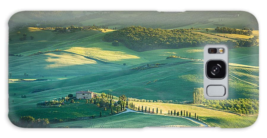 Tuscany Galaxy S8 Case featuring the photograph Tuscany Sunset by Stephane Grossin