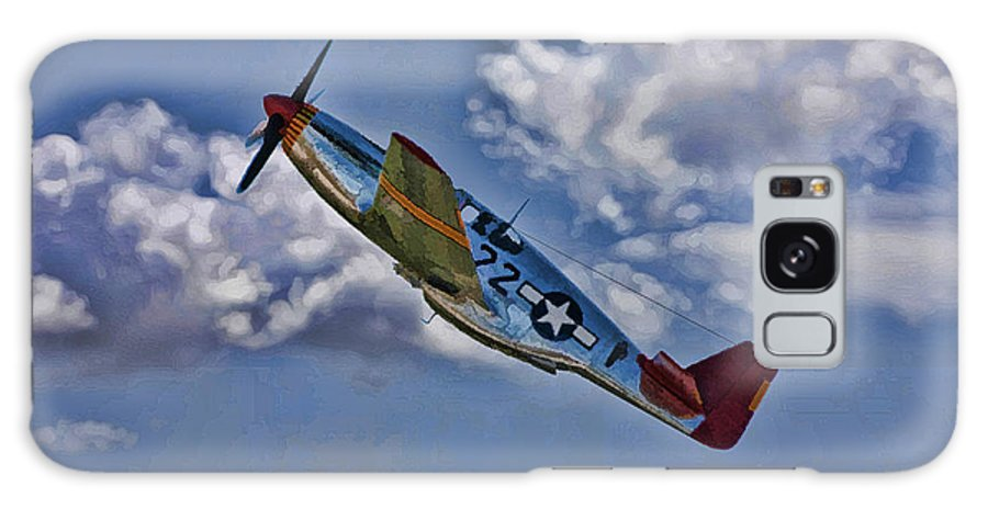 P-51 Galaxy S8 Case featuring the digital art Tuskegee Mustang Red Tail by Tommy Anderson