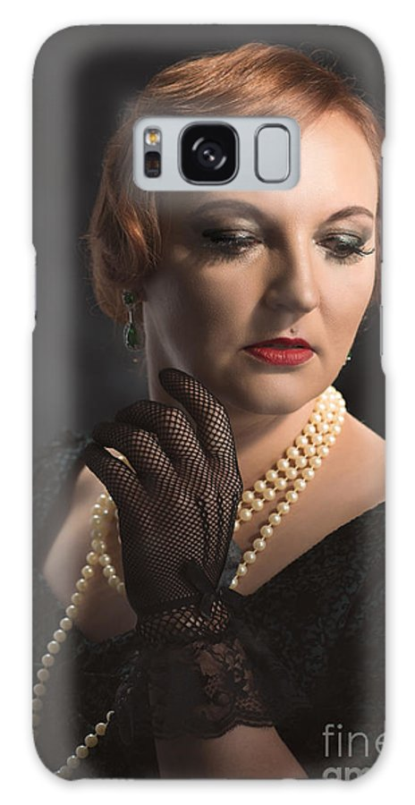 Woman Galaxy S8 Case featuring the photograph Twenties Style Portrait by Amanda Elwell