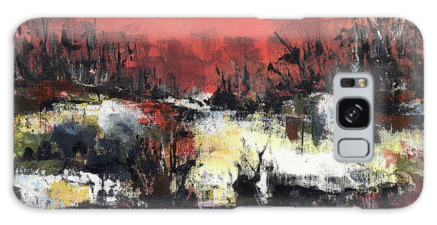 Abstract Galaxy Case featuring the painting Twilight Madness by Aniko Hencz