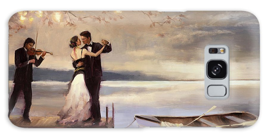Romantic Galaxy Case featuring the painting Twilight Romance by Steve Henderson