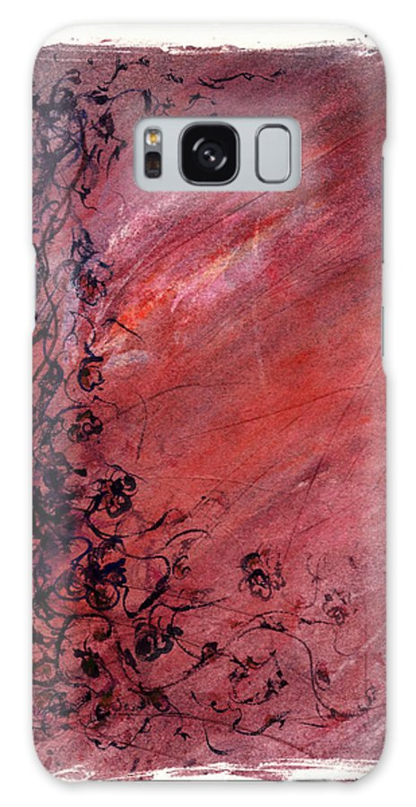 Floral Galaxy Case featuring the painting Twilight Rose by Rachel Christine Nowicki