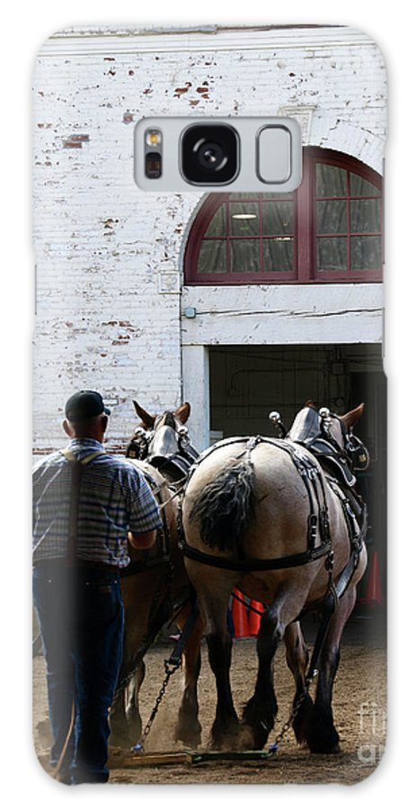 Draft Horses Galaxy S8 Case featuring the photograph Twilight by Shari Nees