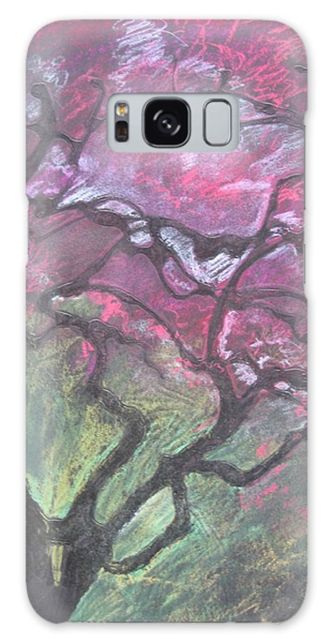 Pastel Galaxy Case featuring the drawing Twisted Cherry by Leah Tomaino