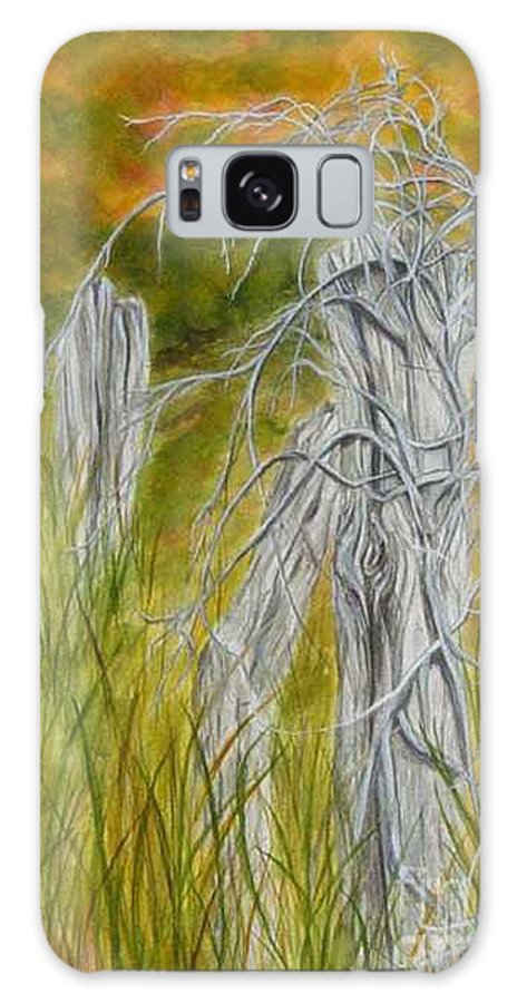 Landscape Galaxy Case featuring the painting Twisted by Regan J Smith