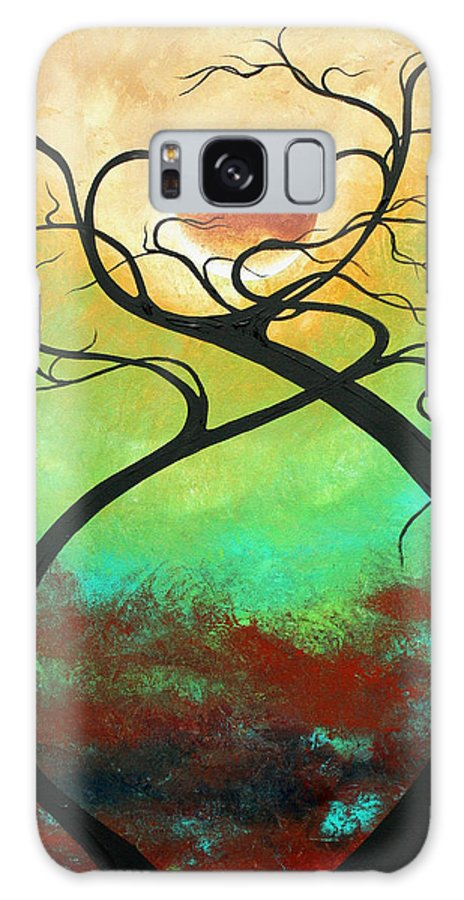Landscape Galaxy S8 Case featuring the painting Twisting Love II Original Painting By Madart by Megan Duncanson