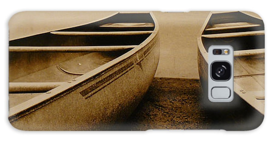 Canoes Galaxy Case featuring the photograph Two Canoes by Jack Paolini