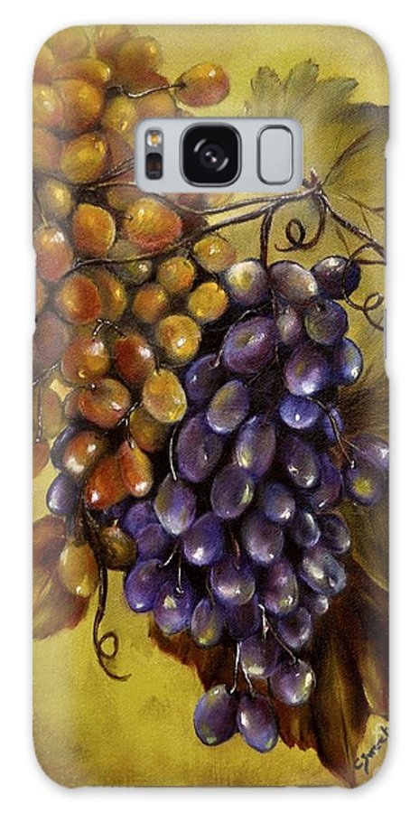 Grapes Galaxy S8 Case featuring the painting Two Choices by Carol Sweetwood