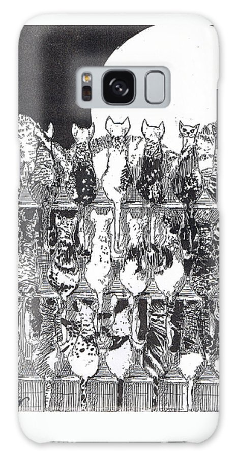 Cats Galaxy Case featuring the drawing Two Dozen And One Cats by Seth Weaver