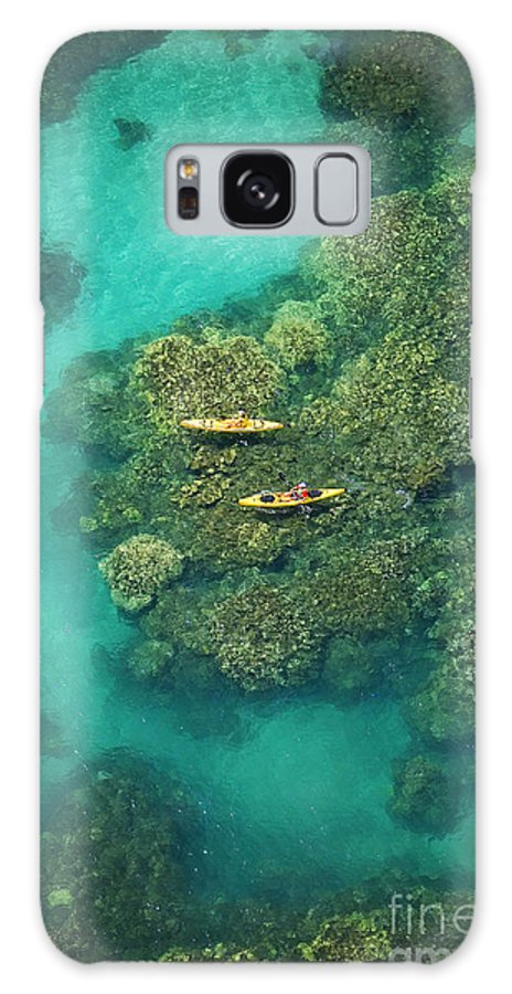 Above Galaxy S8 Case featuring the photograph Two Kayakers by Ron Dahlquist - Printscapes