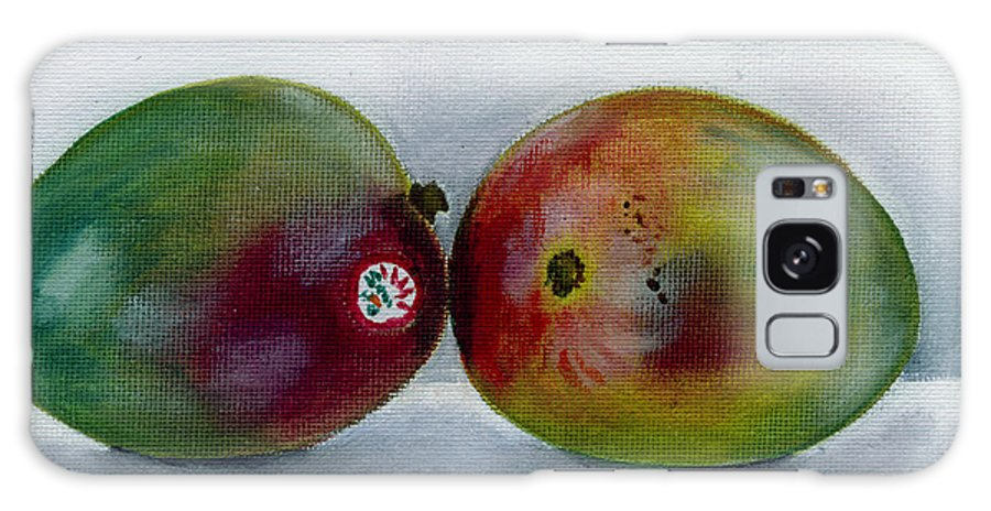 Still-life Galaxy S8 Case featuring the painting Two Mangoes by Sarah Lynch