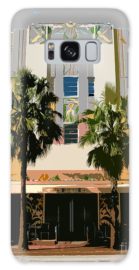 Miami Beach Florida Galaxy S8 Case featuring the photograph Two Palms Art Deco Building by David Lee Thompson