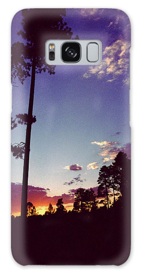 Arizona Sunset Galaxy Case featuring the photograph Two Pines Sunset by Randy Oberg