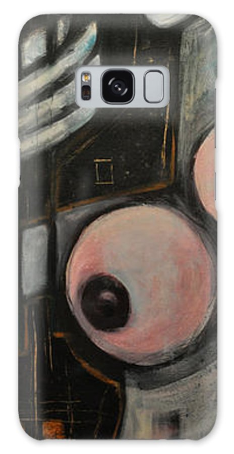 Nude Galaxy S8 Case featuring the painting Two Roses by Tim Nyberg