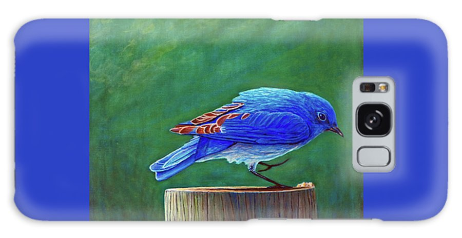 Bluebird Galaxy Case featuring the painting Two Step by Brian Commerford