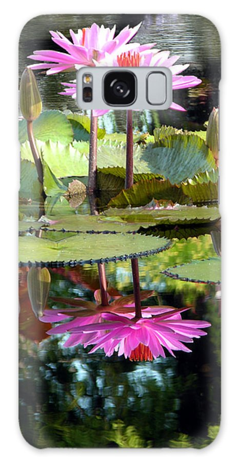 Water Lilies Galaxy S8 Case featuring the photograph Two Worlds by John Lautermilch
