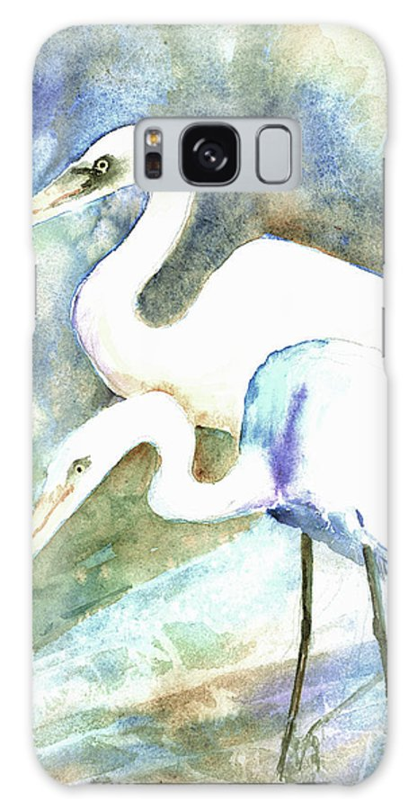 Crane Galaxy S8 Case featuring the painting Twosome by Arline Wagner