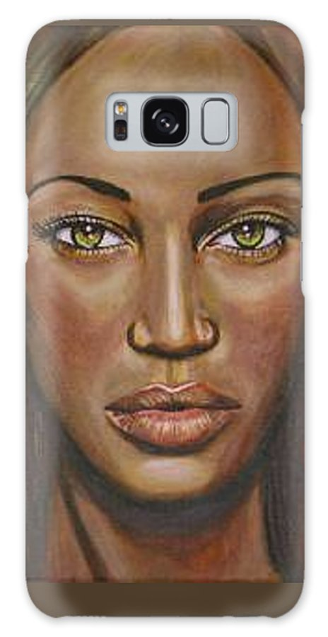 Woman Galaxy S8 Case featuring the painting Tyra by Sarah-Lynn Brown
