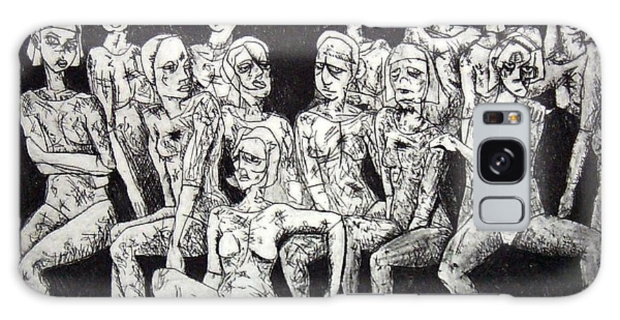 Etching Galaxy Case featuring the print Ugly Girls by Thomas Valentine