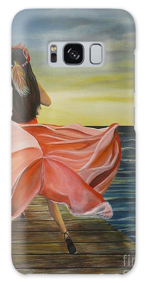 Sunset Galaxy S8 Case featuring the painting Uhane O Ka Welo by Kris Crollard