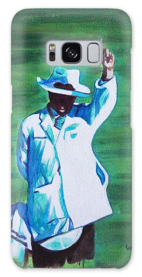 Usha Galaxy S8 Case featuring the painting Umpiring by Usha Shantharam