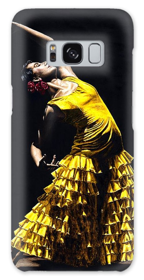 Flamenco Galaxy S8 Case featuring the painting Un Momento Intenso Del Flamenco by Richard Young