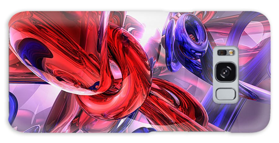 3d Galaxy S8 Case featuring the digital art Unchained Abstract by Alexander Butler