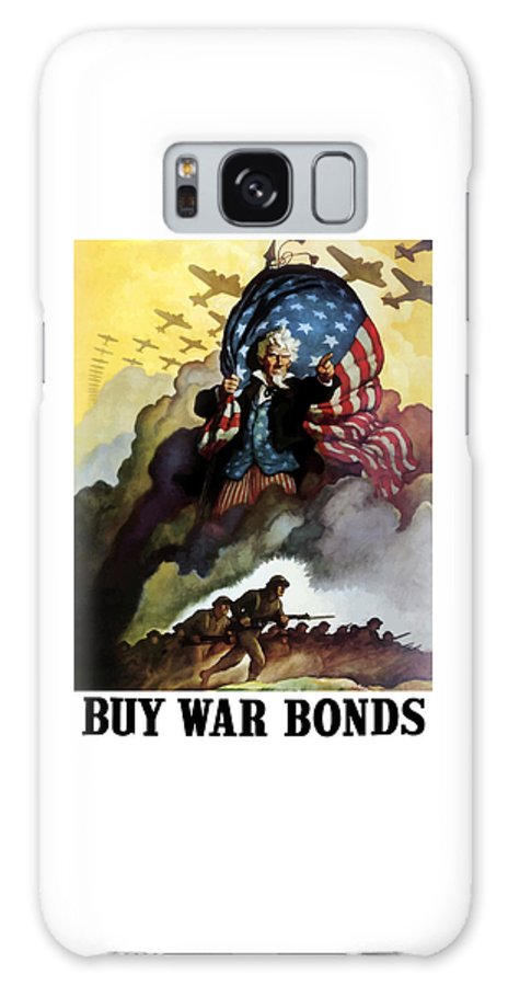 Uncle Sam Galaxy S8 Case featuring the painting Uncle Sam - Buy War Bonds by War Is Hell Store