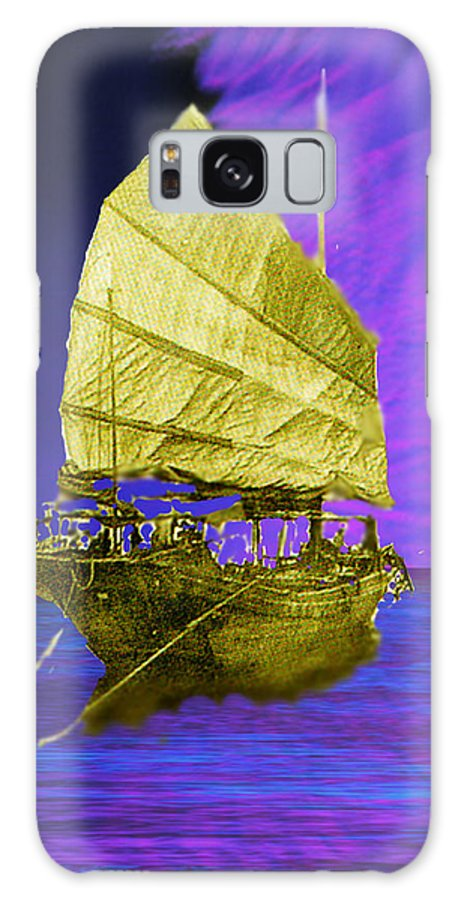 Nautical Galaxy S8 Case featuring the digital art Under Golden Sails by Seth Weaver