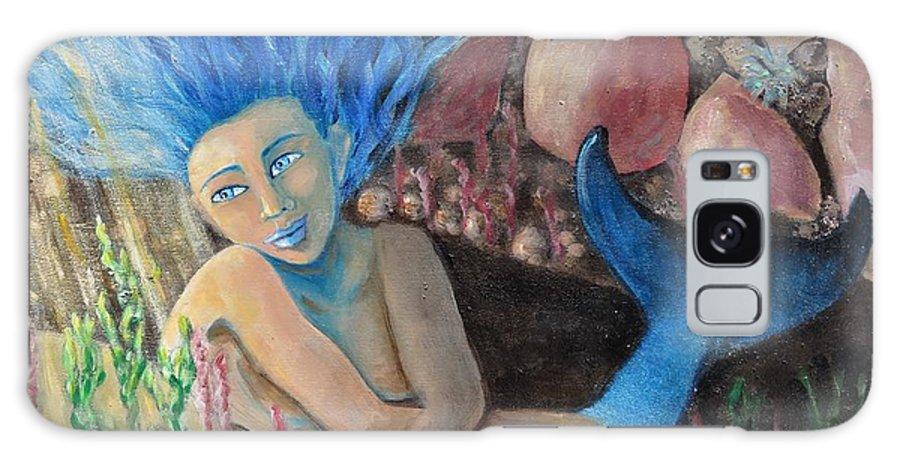 Mermaid Galaxy S8 Case featuring the painting Underwater Wondering by Laurie Morgan