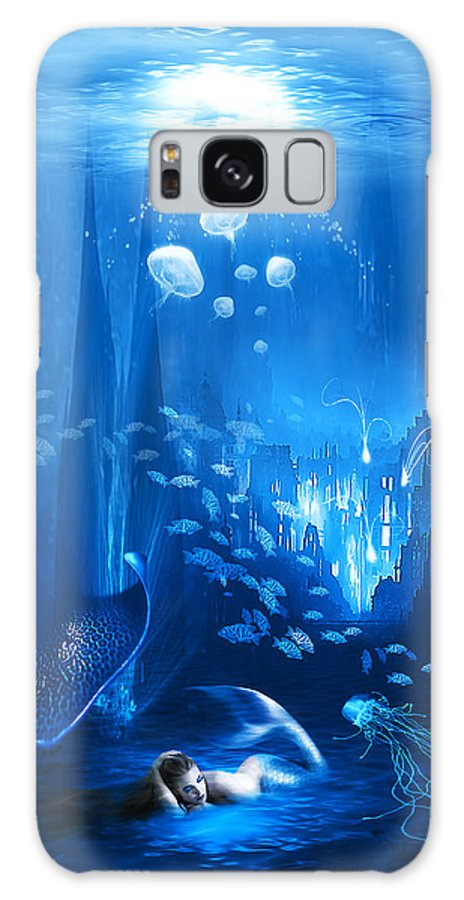 Abstract Galaxy S8 Case featuring the digital art Underwater World by Svetlana Sewell